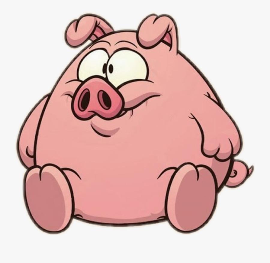 Cartoon Fat Pigs Clipart , Png Download.