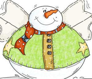 Fat Round Snowman.