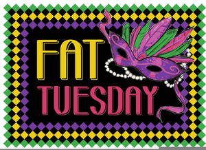 Happy Fat Tuesday Clipart.