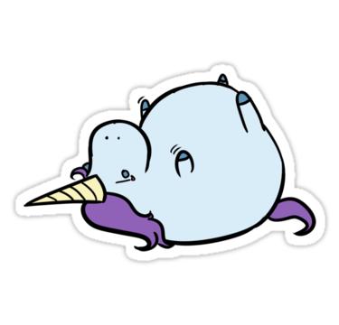 Sad fat unicorn
