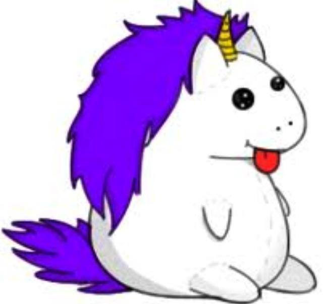 fat unicorn clipart Clipground