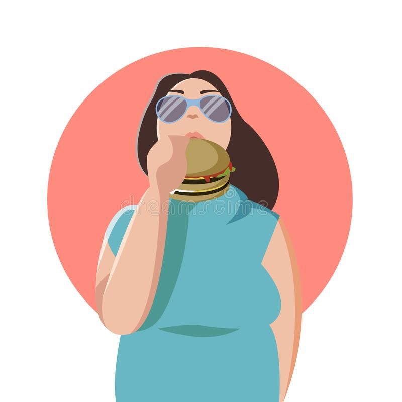 Fat Woman Stock Illustrations.
