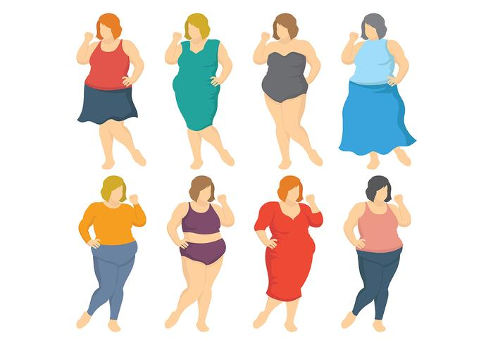 Free Fat Women Icons Vector.
