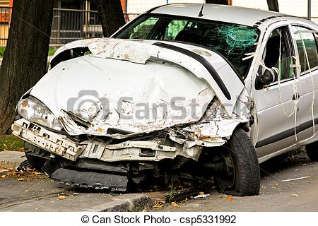 Stock Photo of Fatal accident.
