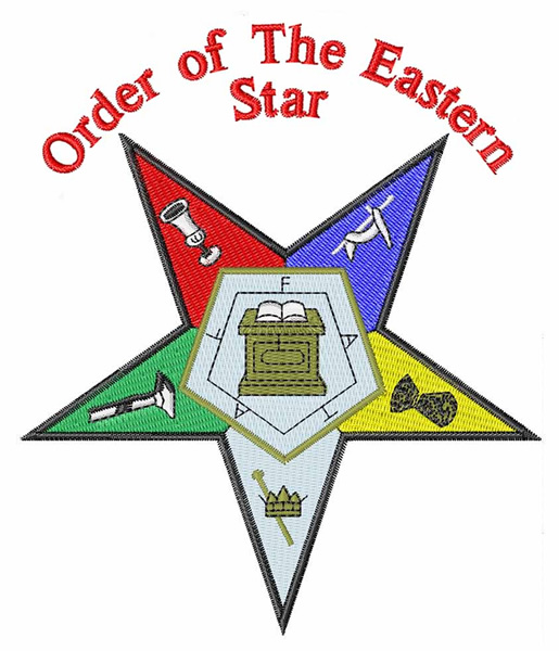 Eastern star emblems clipart without fatal.