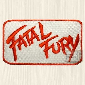 Details about Fatal Fury Logo Embroidered Patch Vintage Videogame Console  Arcade NEO GEO CD.