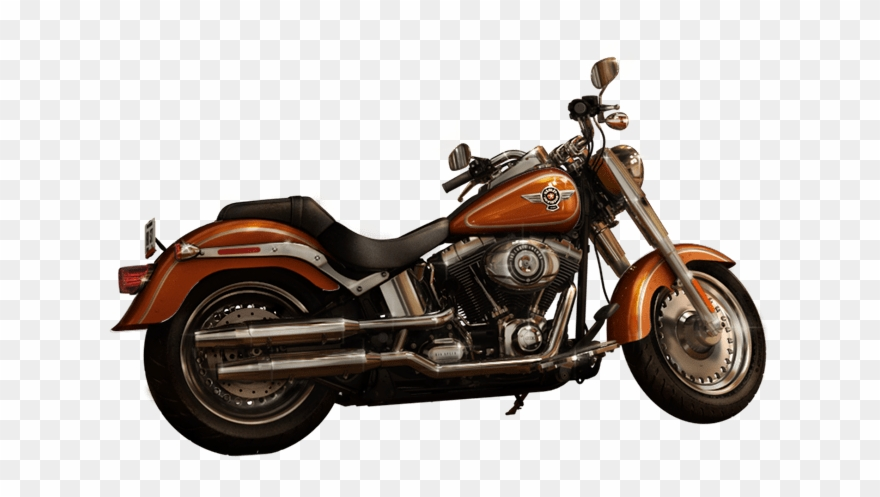 Harley Davidson Fatboy Amber Red Clipart (#3654953).