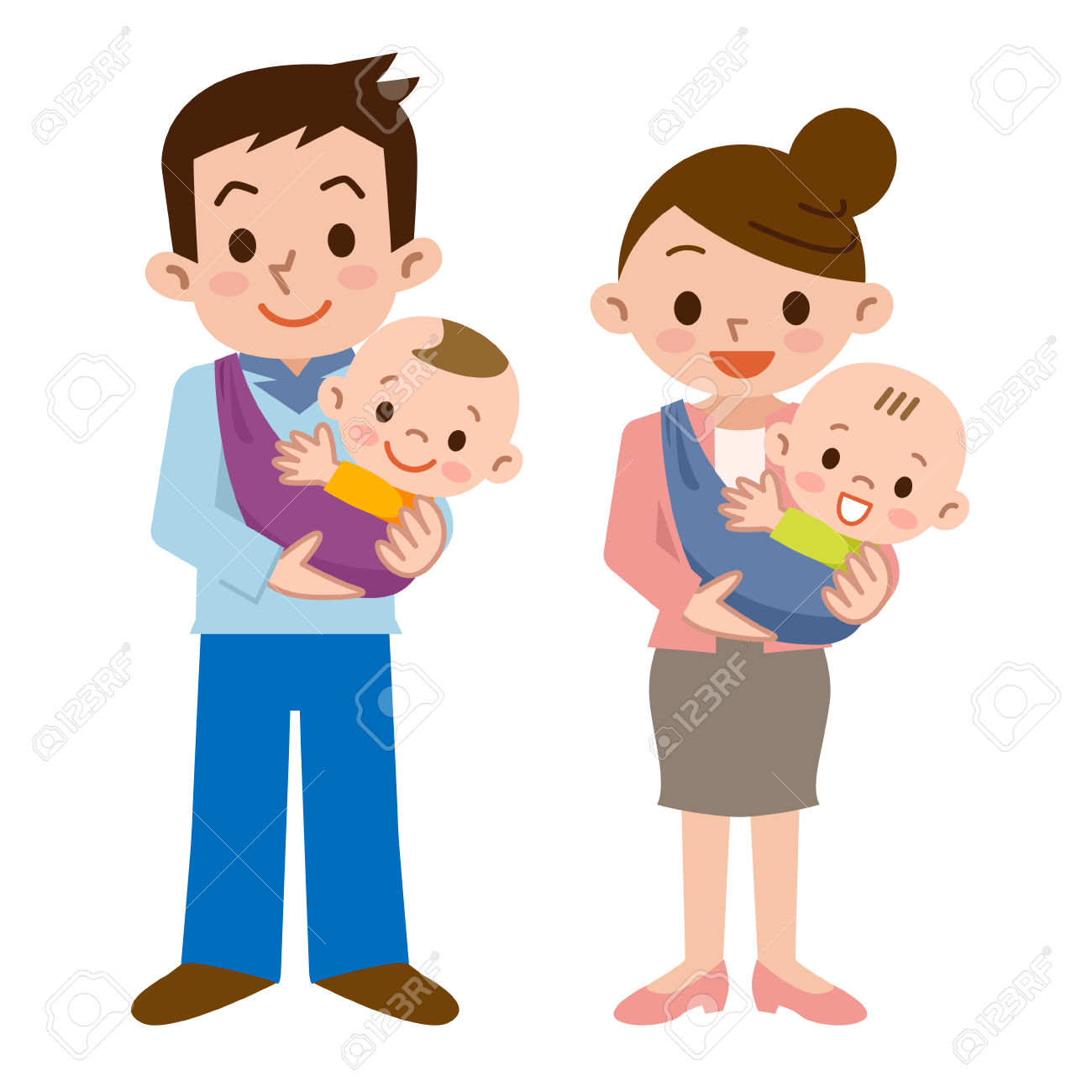 Father and mother and baby » Clipart Station.