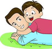 Father son Clip Art and Illustration. 10,178 father son clipart.