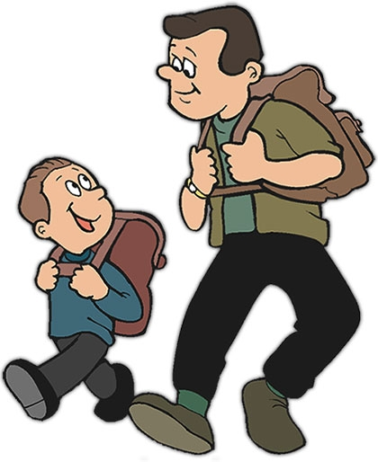 clipart father and child #3
