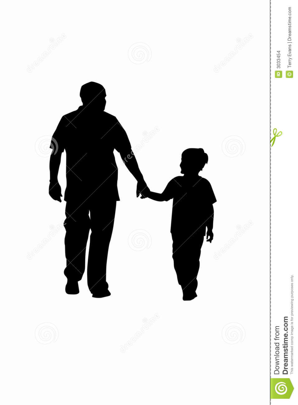 Father And Son Holding Hands Clipart.