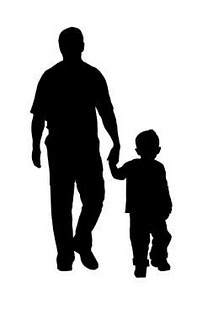 Father And Child Clipart.