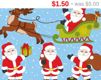 Father Christmas Sldge Clipart In The Lww.