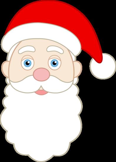 printable santa face pattern.