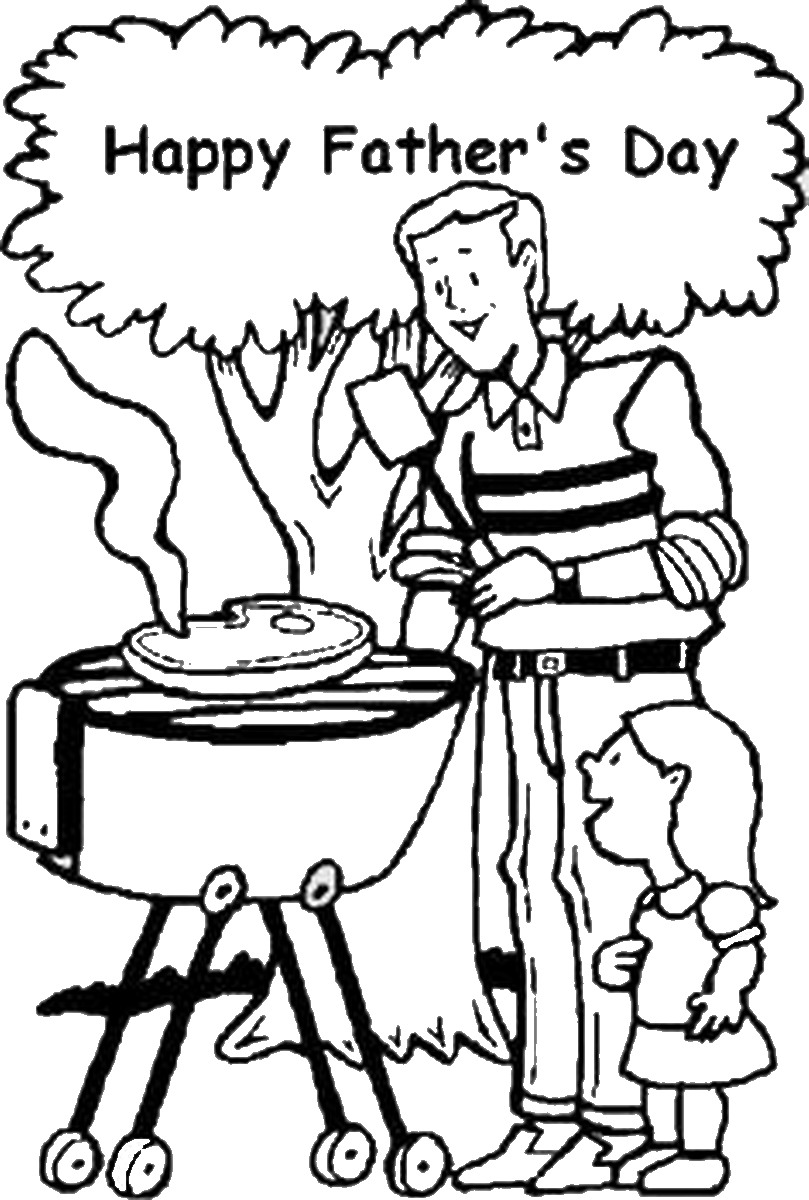 Father's Day Coloring Pages.