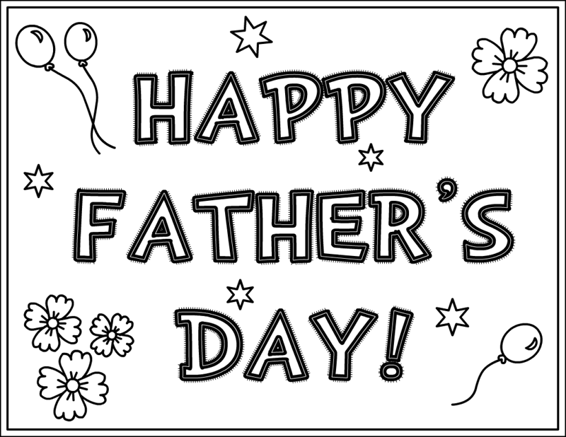 Printable Fathers Day Cards For Color.