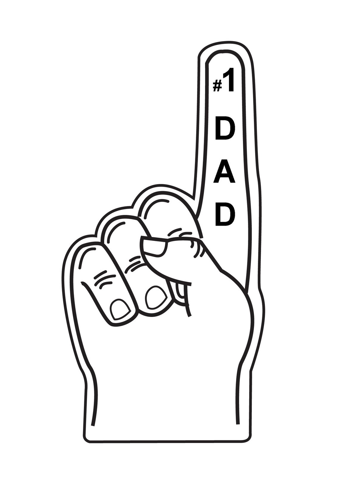 Number 1 dad clipart.