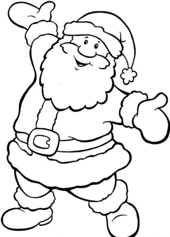 Father Christmas Pictures To Colour.