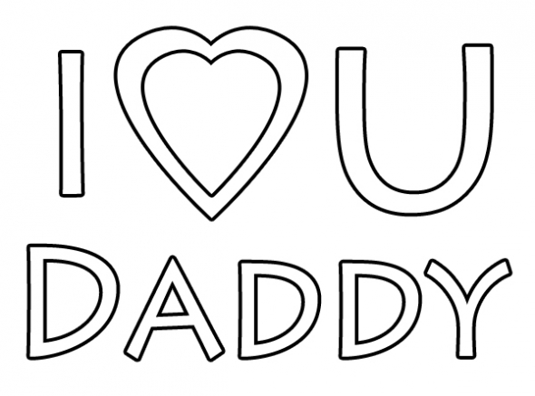 I Love You Daddy coloring page..
