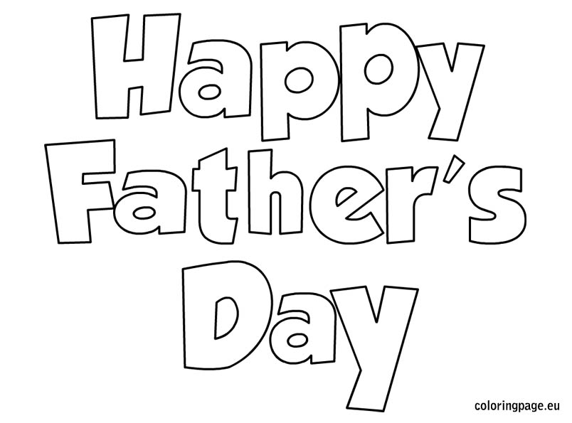 Happy Fathers Day Coloring Pages.