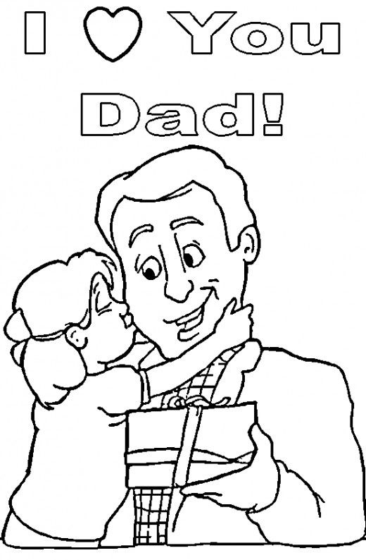 Top 20 Free Printable Father's Day Coloring Pages Online.