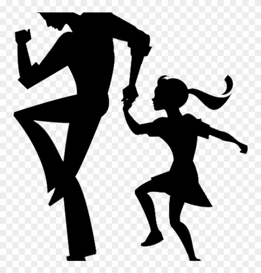 Silhouette Daddy Daughter Dance Clipart , Png Download.