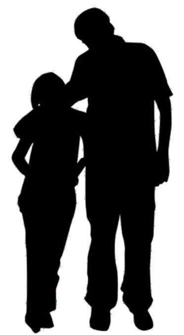 Father Silhouette Daughter.