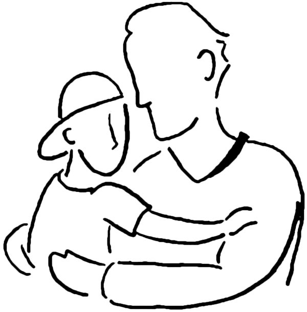 Father And Son Clipart Black White.