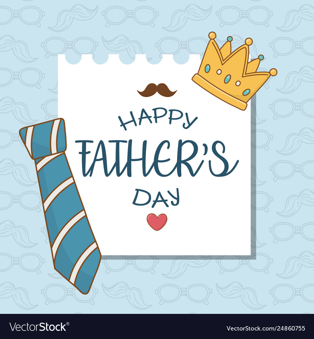 Happy fathers day card with neck tie.