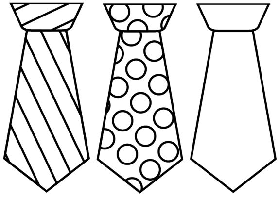 Father\'s Day Tie Cards {free printable template}.