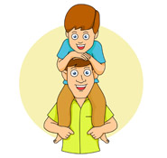 Mother father and son clipart.