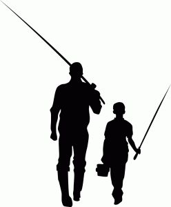 Father and son fishing clipart » Clipart Station.