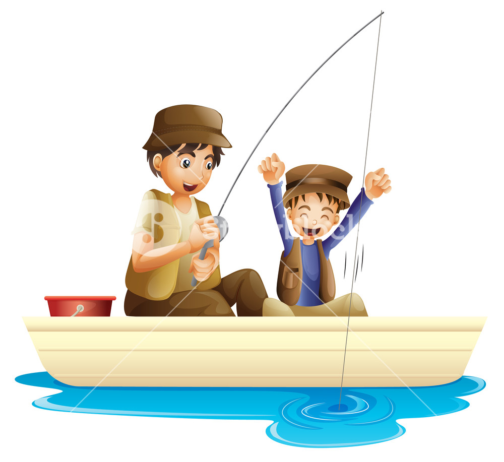 Father son fishing clipart 9 » Clipart Station.