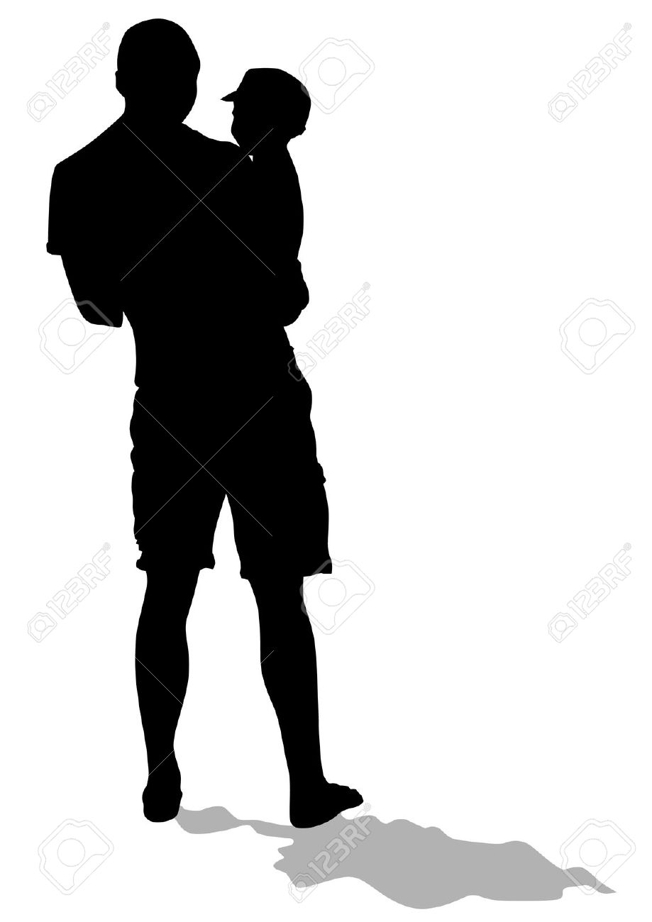 father walking out on his child clipart