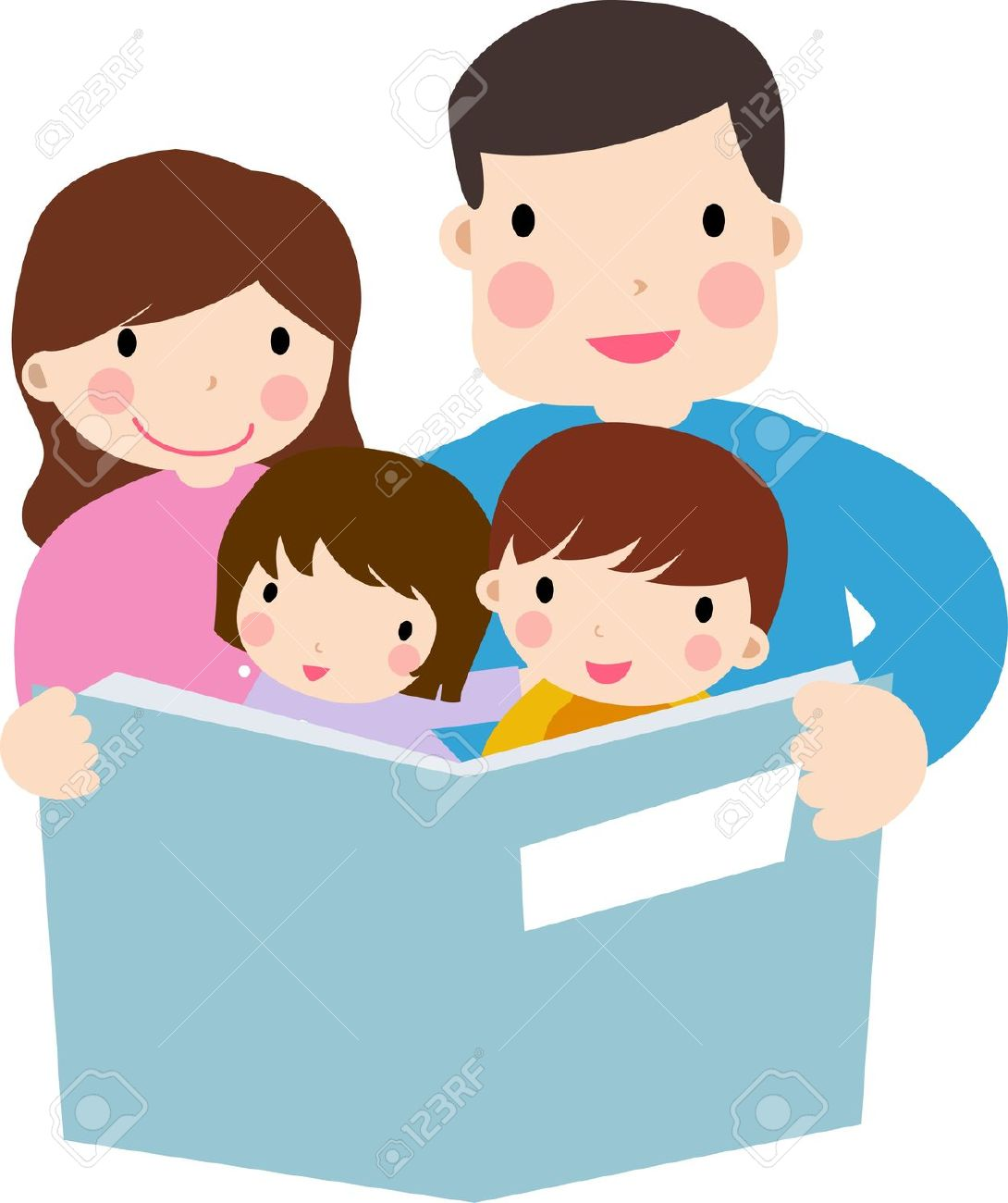 Clip art of child with parent.