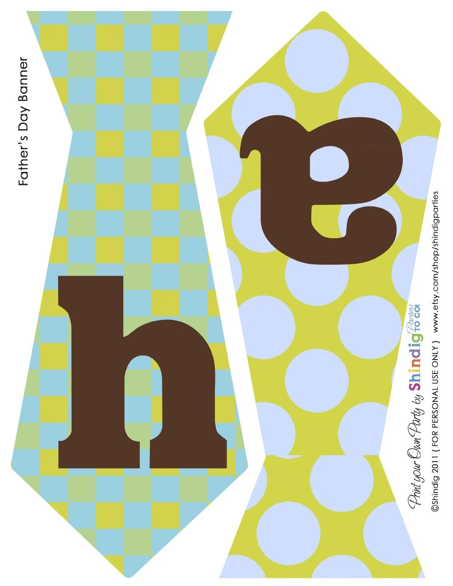 FREE Printable: Fathers Day Banner.