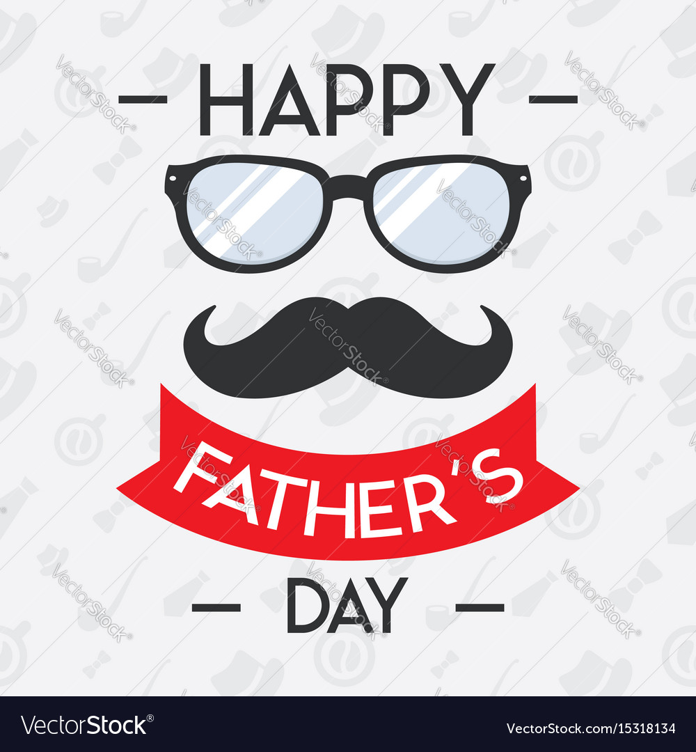 Happy fathers day concept for banner invitation.