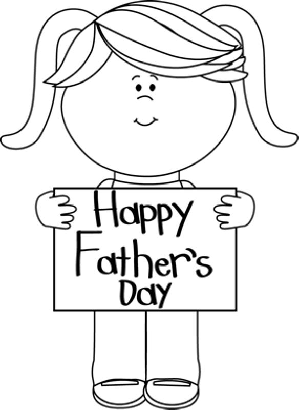 Fathers Day Clipart Black And White.