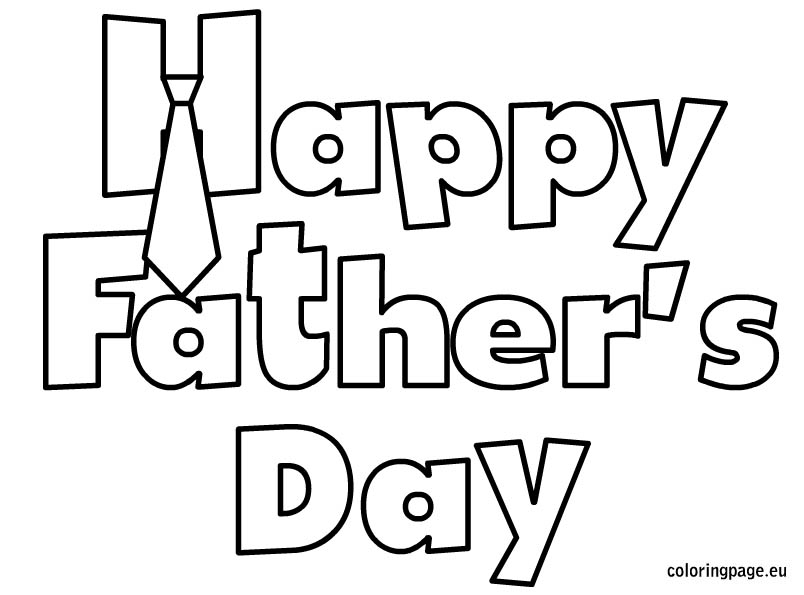 Free Fathers Day Clipart Black and White 2019 Download.