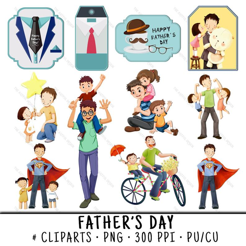Fathers Day Clipart, Father Clipart, Dad Clipart, Fathers Day Clip Art,  Fathers Day PNG, Father Clip Art, Dad Clip Art, Father's Day.
