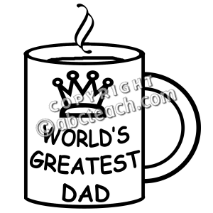 Father S Day Clip Art Black And White.