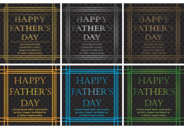 20\'s Happy Fathers Day Vector Backgrounds.
