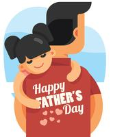 Happy Fathers Day Free Vector Art.