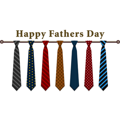 Happy Fathers Day Ties transparent PNG.
