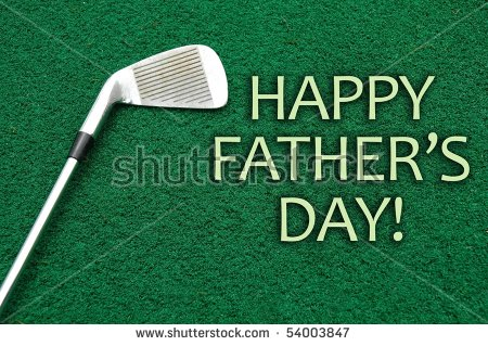 Fathers Day Golf Stock Images, Royalty.