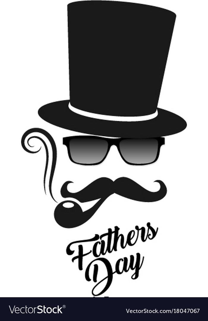 Fathers day gentleman s man mask logo.