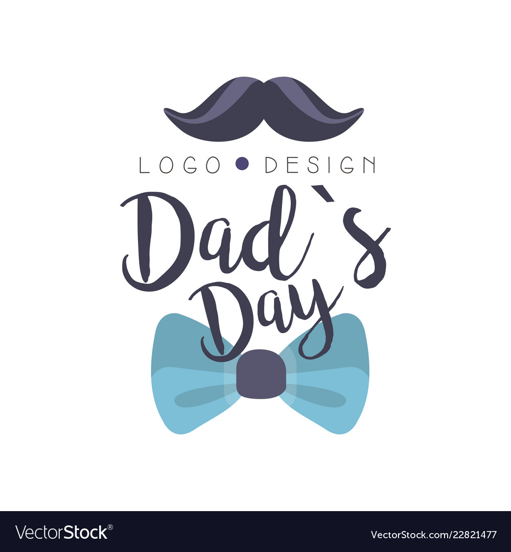 Dads day logo design happy fathers day creative.