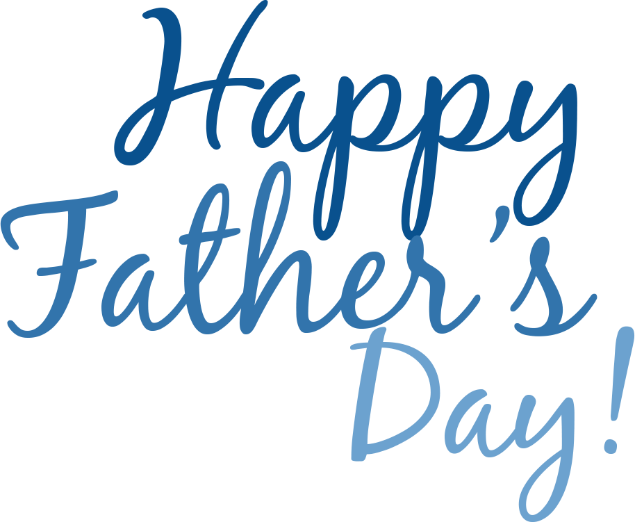Happy Fathers Day Simple Text transparent PNG.