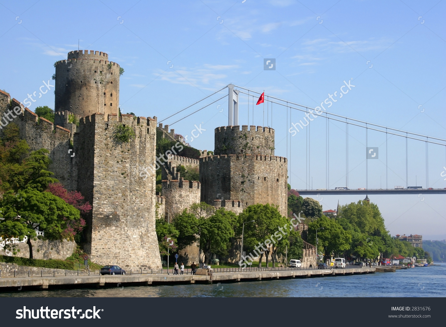 Fatih Sultan Mehmet Bridge Castle On Stock Photo 2831676.