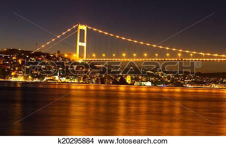 Stock Photo of Fatih Sultan Mehmet Bridge k20295884.